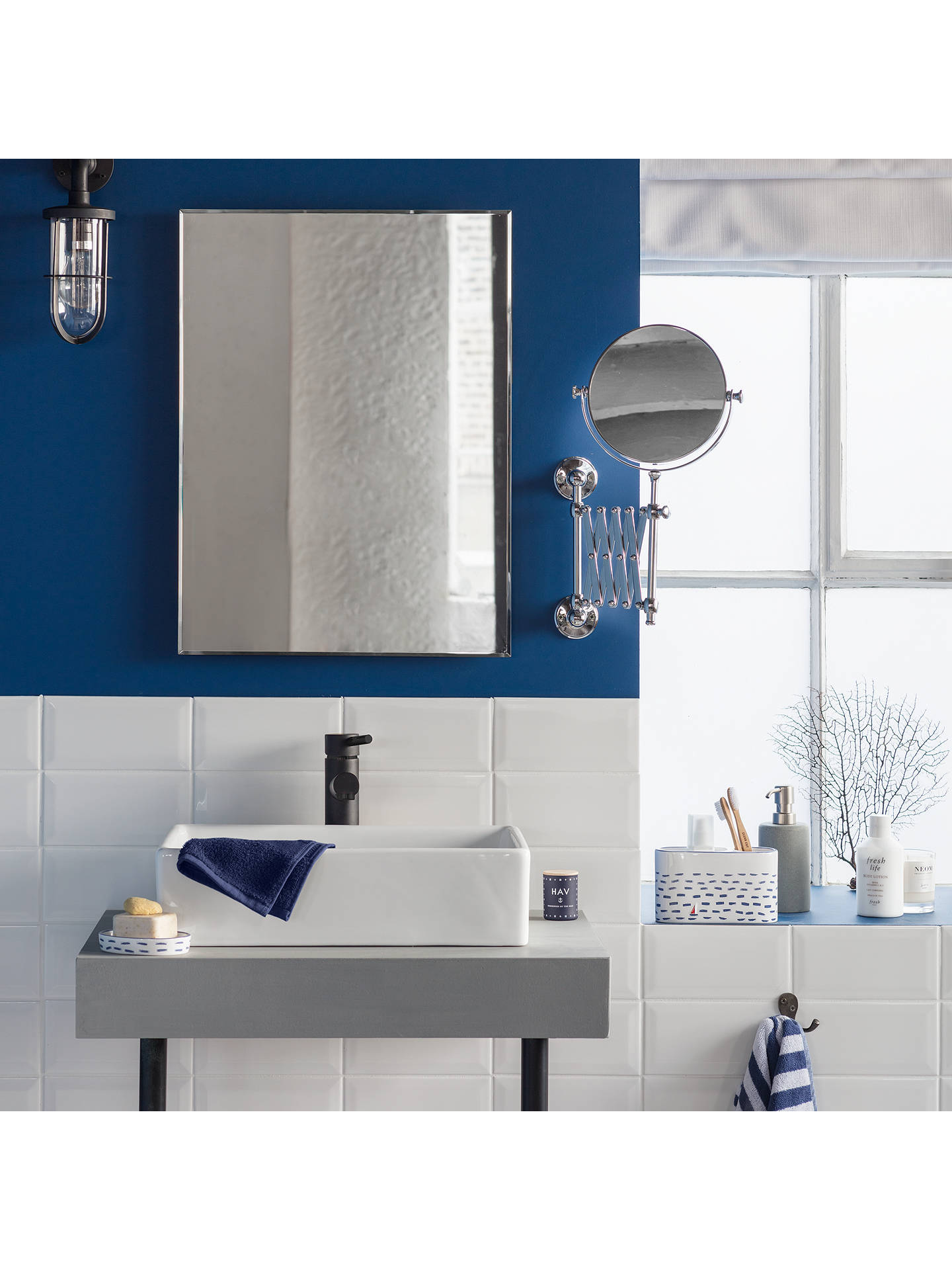 john lewis partners bevelled edge bathroom mirror at. Black Bedroom Furniture Sets. Home Design Ideas