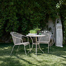 Buy John Lewis Henley by KETTLER Bistro Table & 2 Garden Armchairs, Mocha Light Online at johnlewis.com