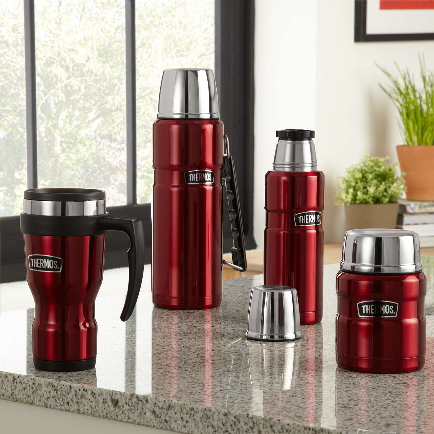 BuyThermos King Food Flask, 0.47L, Red Online at johnlewis.com