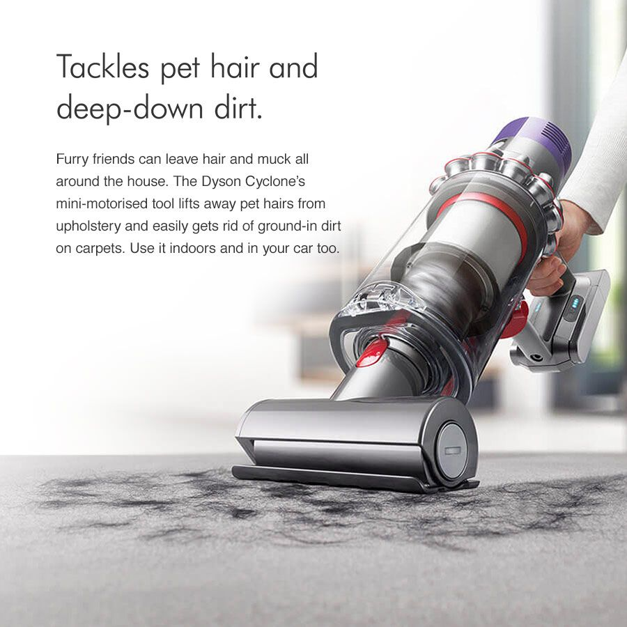 Dyson vacuum tackles pet hair and deep-down dirt