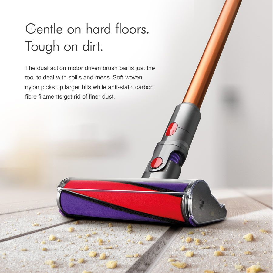 Dyson vacuum gentle on hard floors tough on dirt