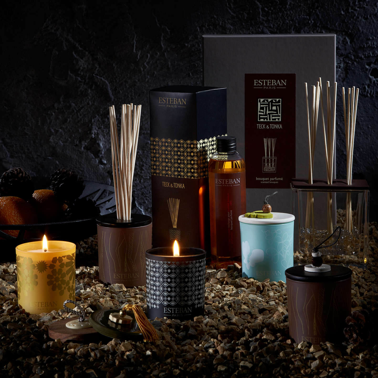 BuyEsteban Teck & Tonka Decorated Scented Candle, 170g Online at johnlewis.com