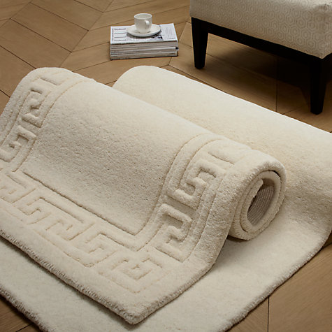 Buy John Lewis Madras Greek Key Rugs, Cream Online at johnlewis.com
