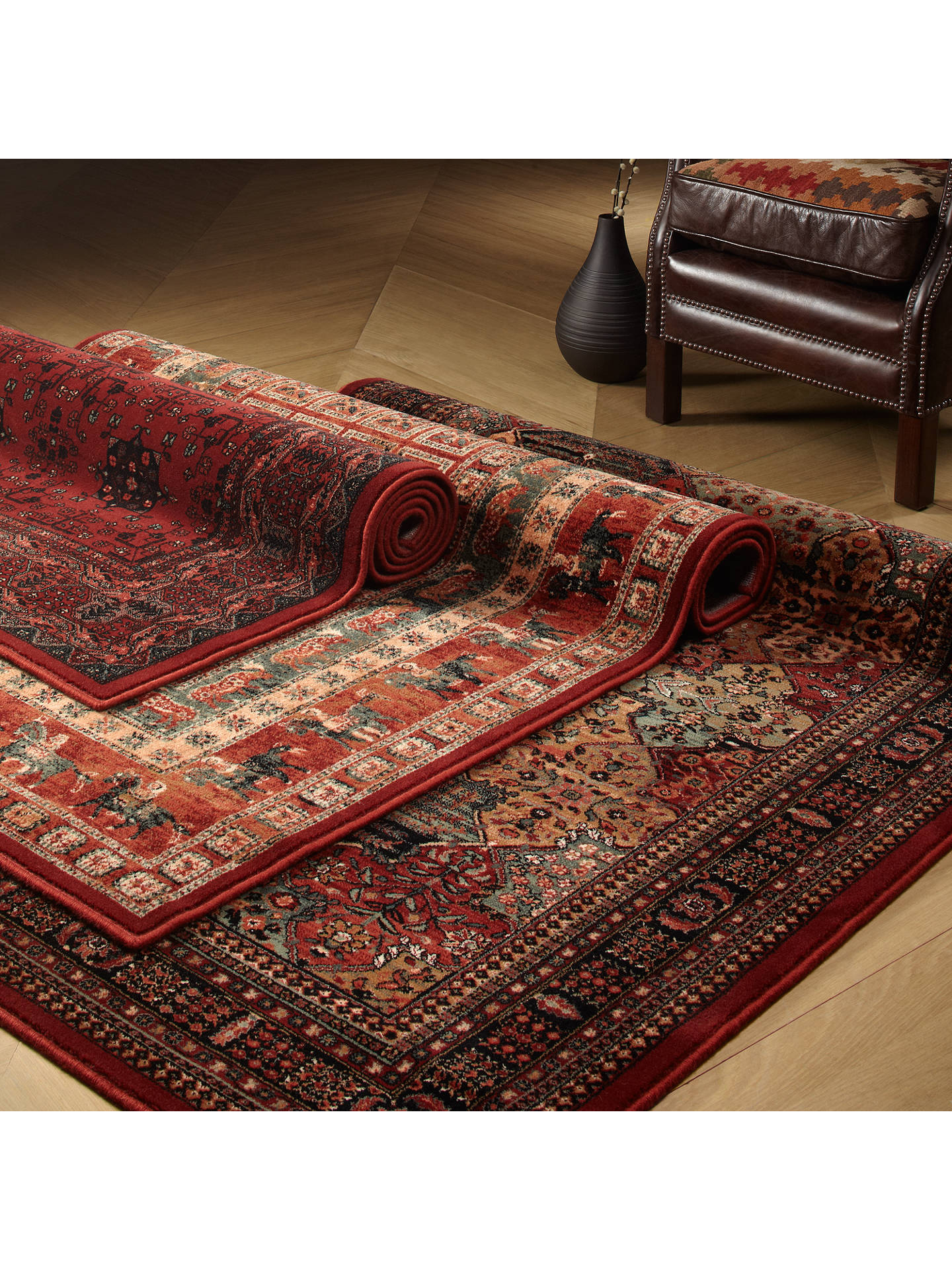 John Lewis Partners Royal Heritage Pazyrk Rugs Red L300 X W200cm