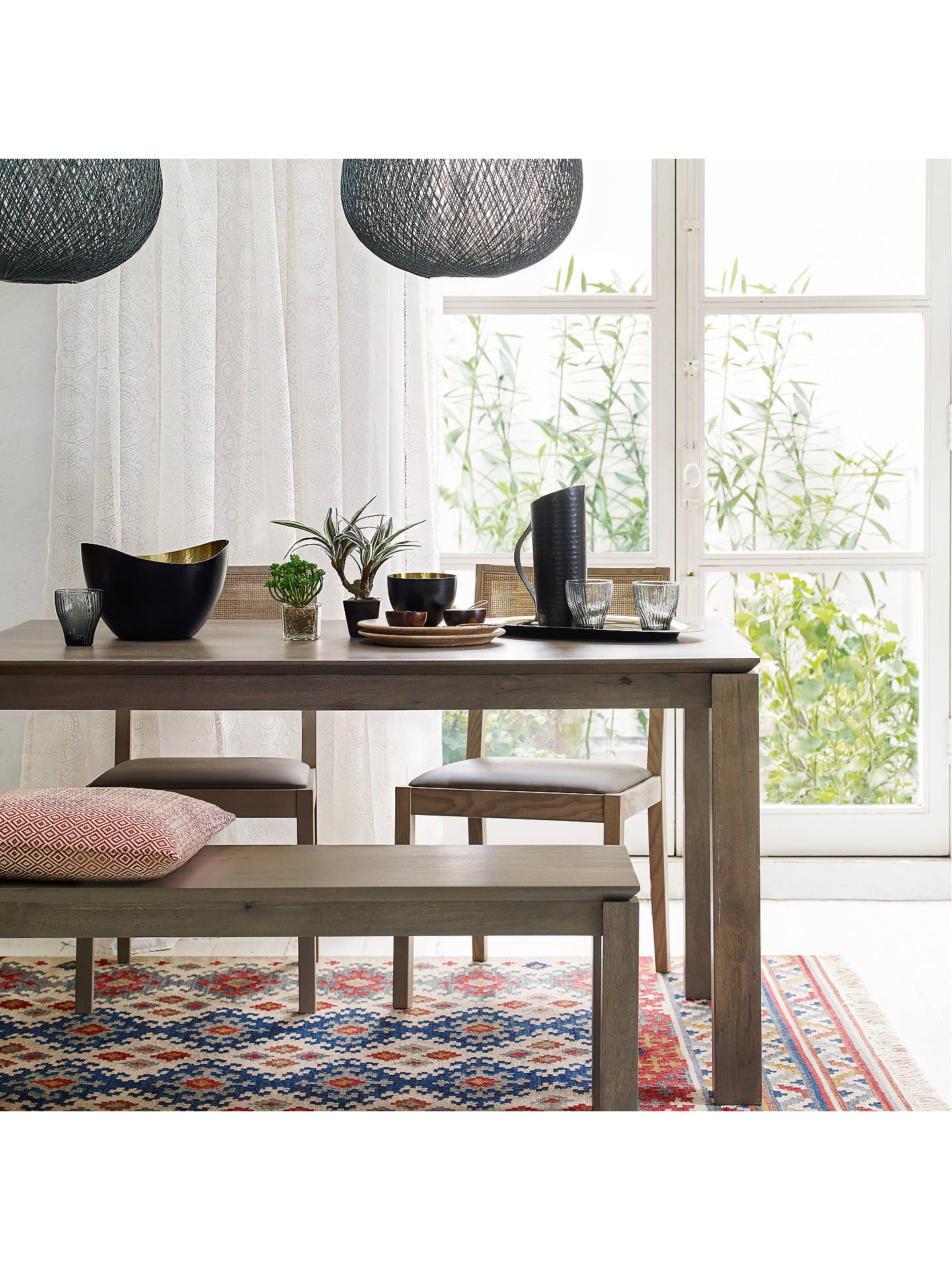 Cool John Lewis Partners Asha Wooden 6 Seater Dining Table Grey Theyellowbook Wood Chair Design Ideas Theyellowbookinfo