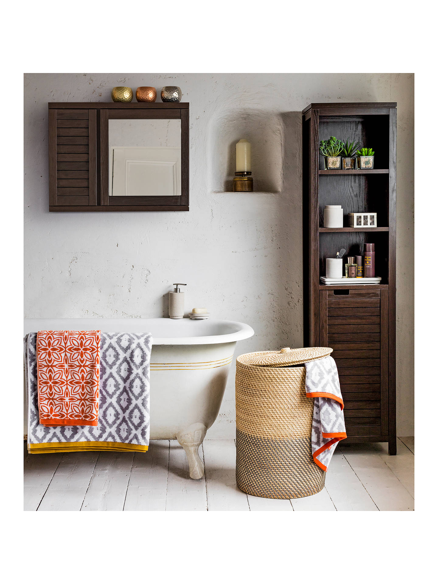 John Lewis Partners Bali Double Mirrored Bathroom Cabinet At Johnlewis Com
