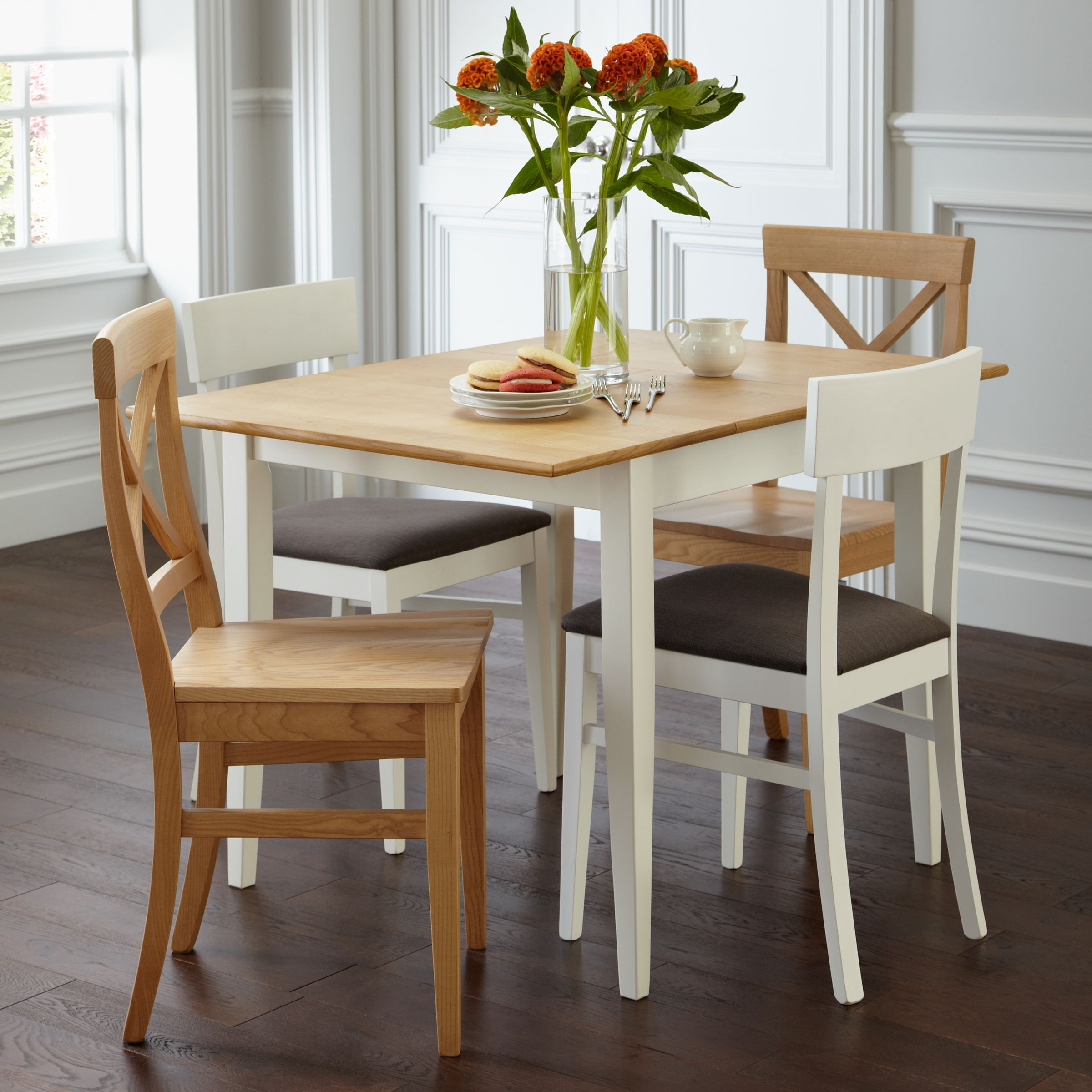 Picture of: John Lewis Lacock 4 Seater Square Extending Dining Table White Oak At John Lewis Partners