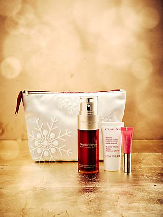 Clarins Double Serum Skincare And Makeup Gift Set