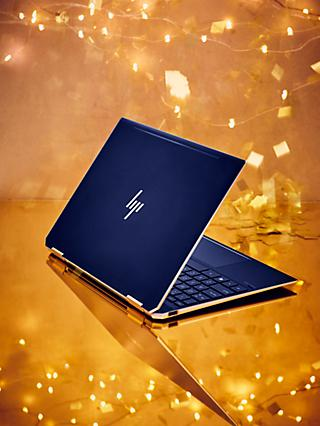 "HP Spectre x360 13-ap0007na Convertible Laptop with HP Tilt Pen Stylus, Intel Core i7, 8GB RAM, 512GB SSD, 13.3"" Full HD,  Poseidon Blue"