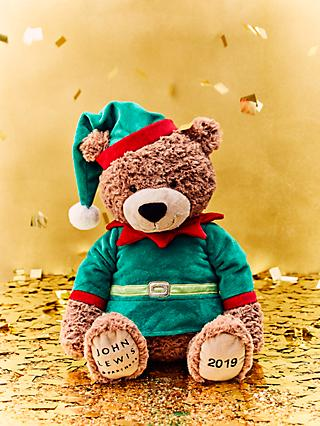 John Lewis & Partners ABC Christmas 2019 Lewis Bear Elf