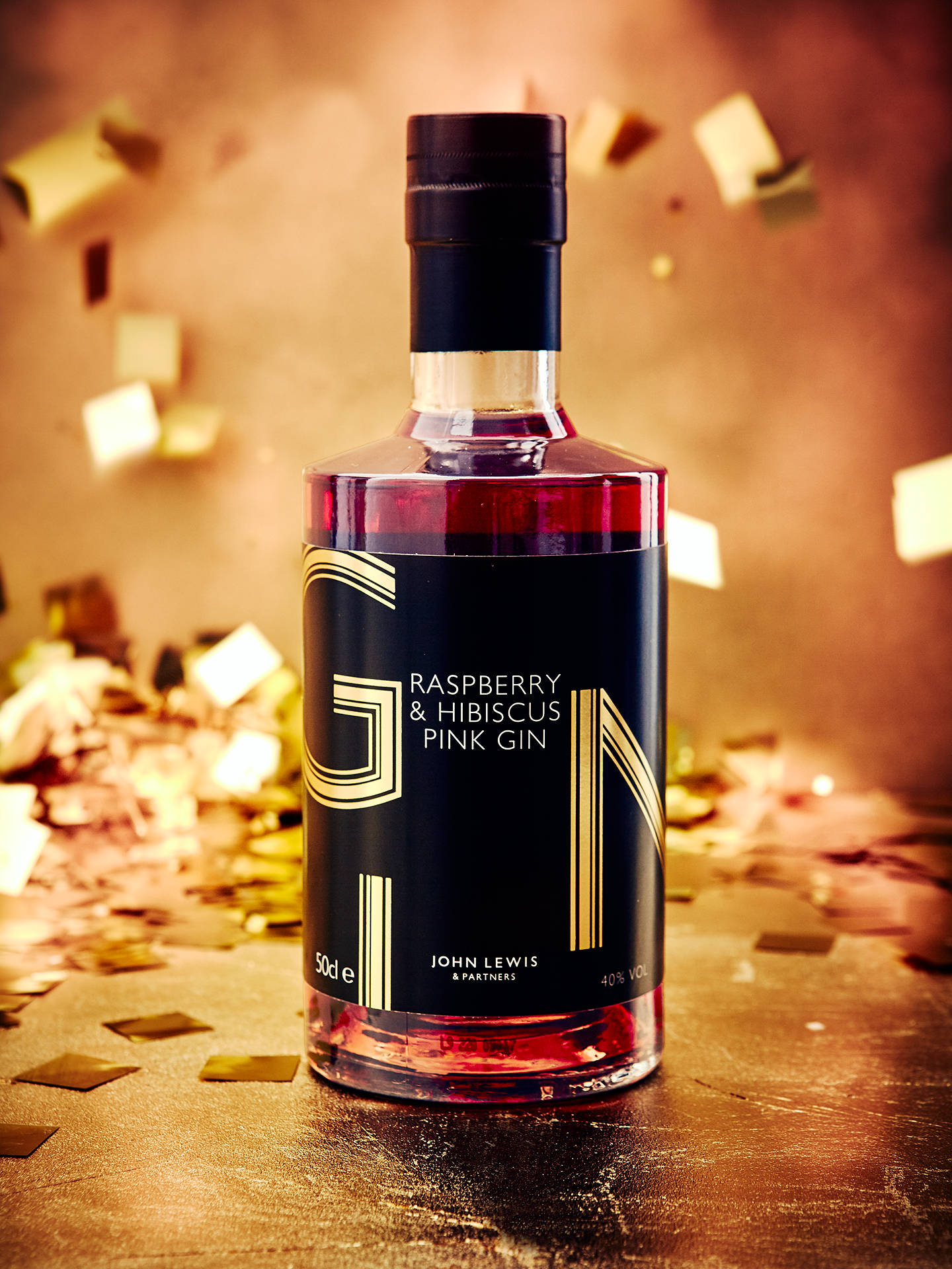 John Lewis & Partners Raspberry & Hibiscus Gin, 50cl by John Lewis & Partners