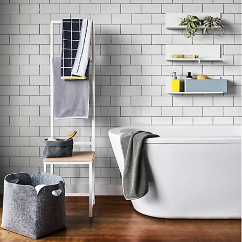 Bathroom Tiles John Lewis buy housejohn lewis bathroom storage box, blue grey | john lewis
