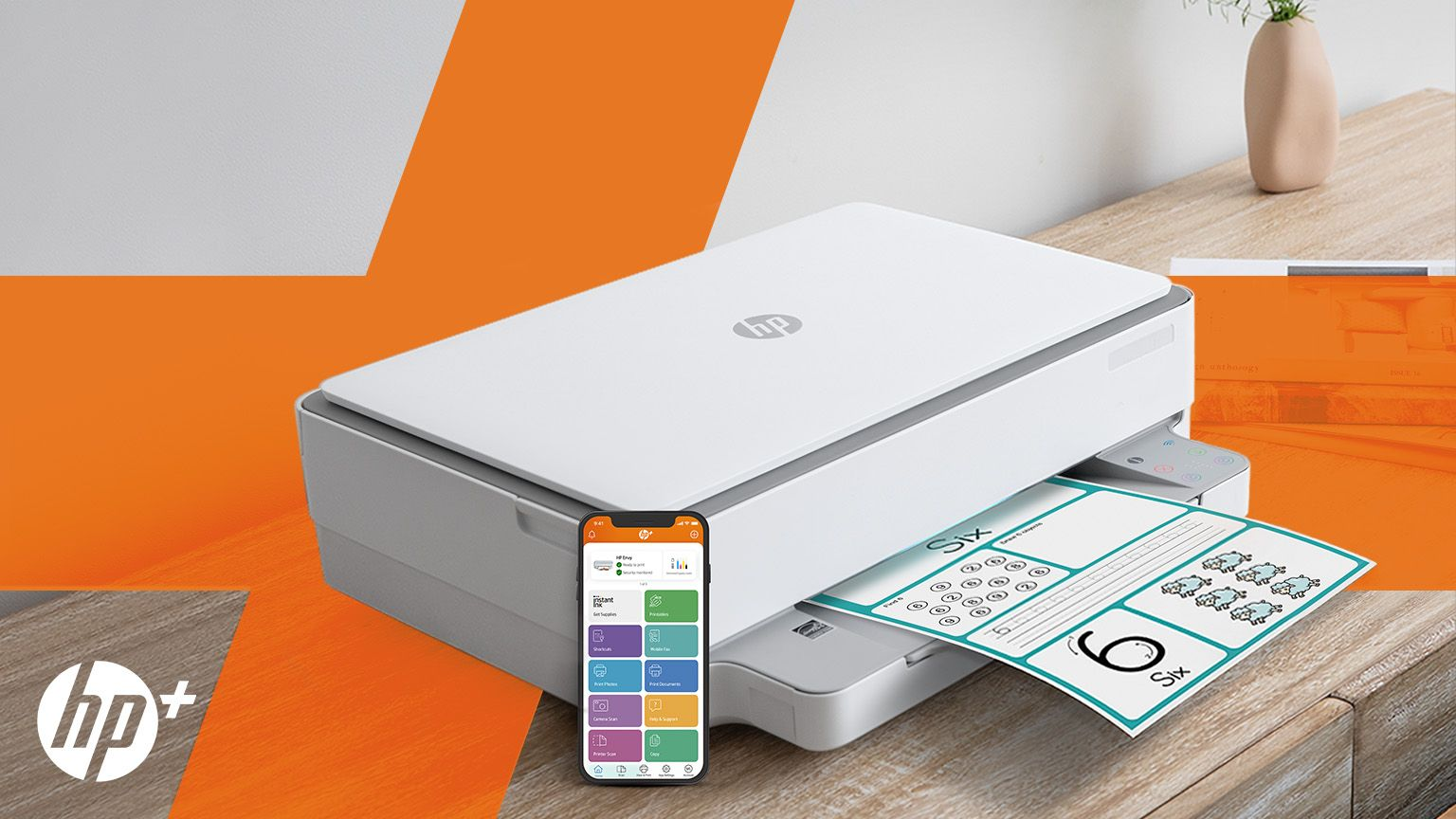 Introducing HP+. Smart Printing has arrived.
