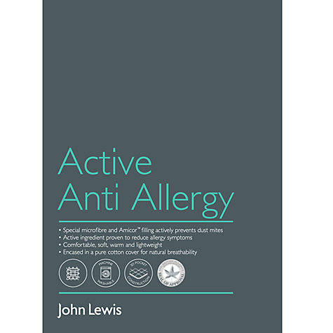 Buy John Lewis Active Anti Allergy Standard Pillow, Soft/Medium Online at johnlewis.com