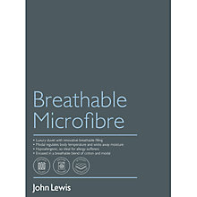 Buy John Lewis Breathable Microfibre Online at johnlewis.com