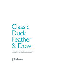 John Lewis Classic Duck Feather & Down Bedding