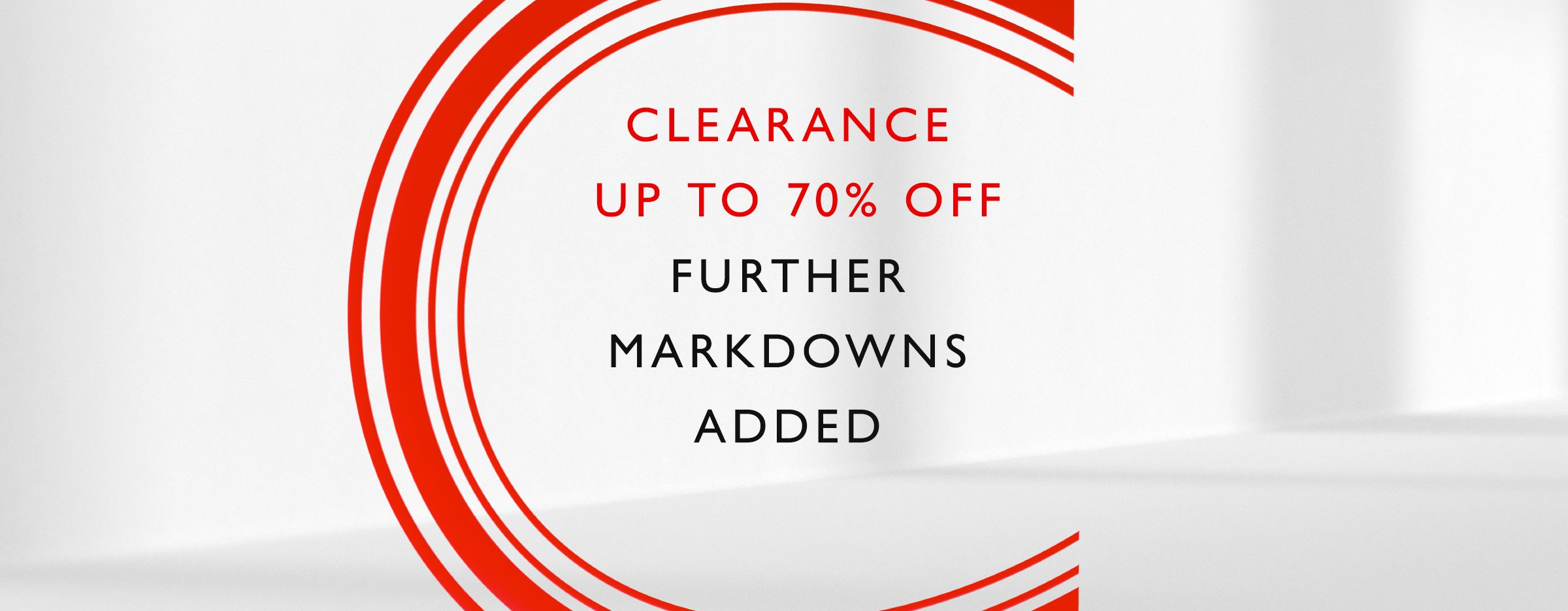 Clearance now on - Up to 70% off