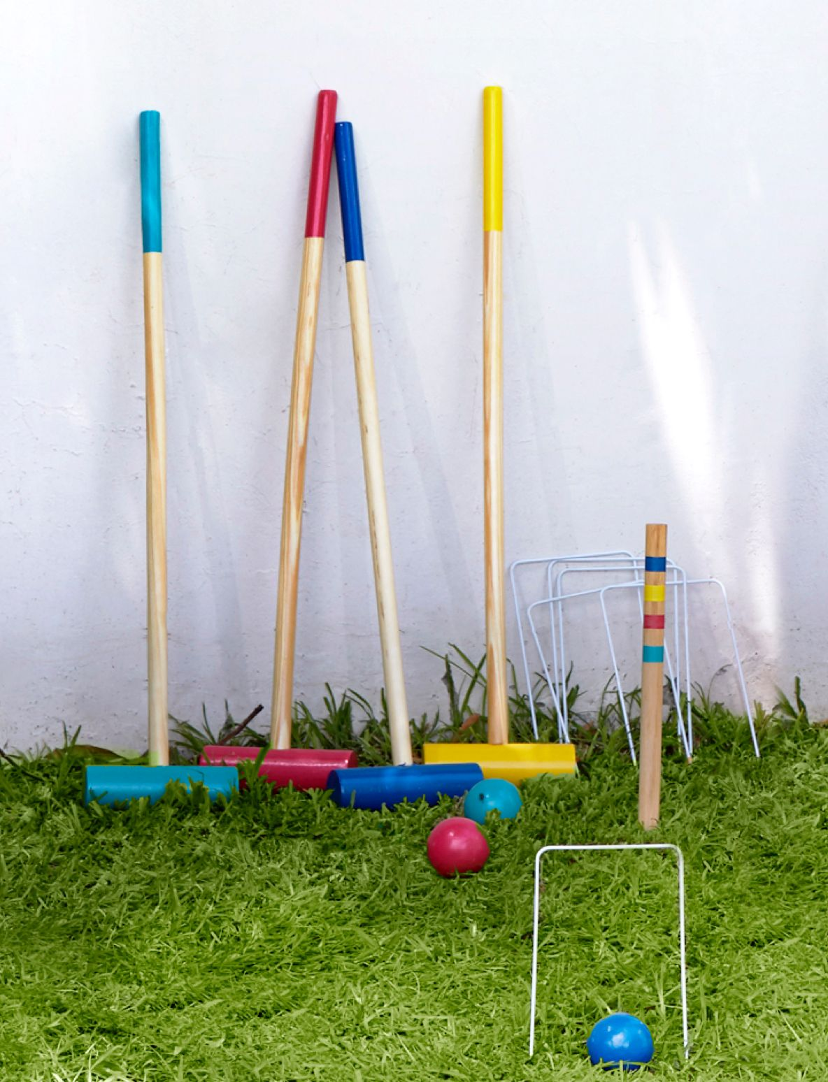 Games for the garden on a patch of grass