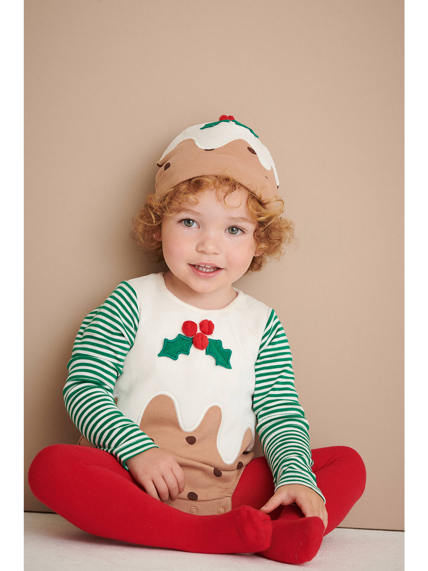 Christmas Pudding Outfit.John Lewis Partners Baby Christmas Pudding Romper Set