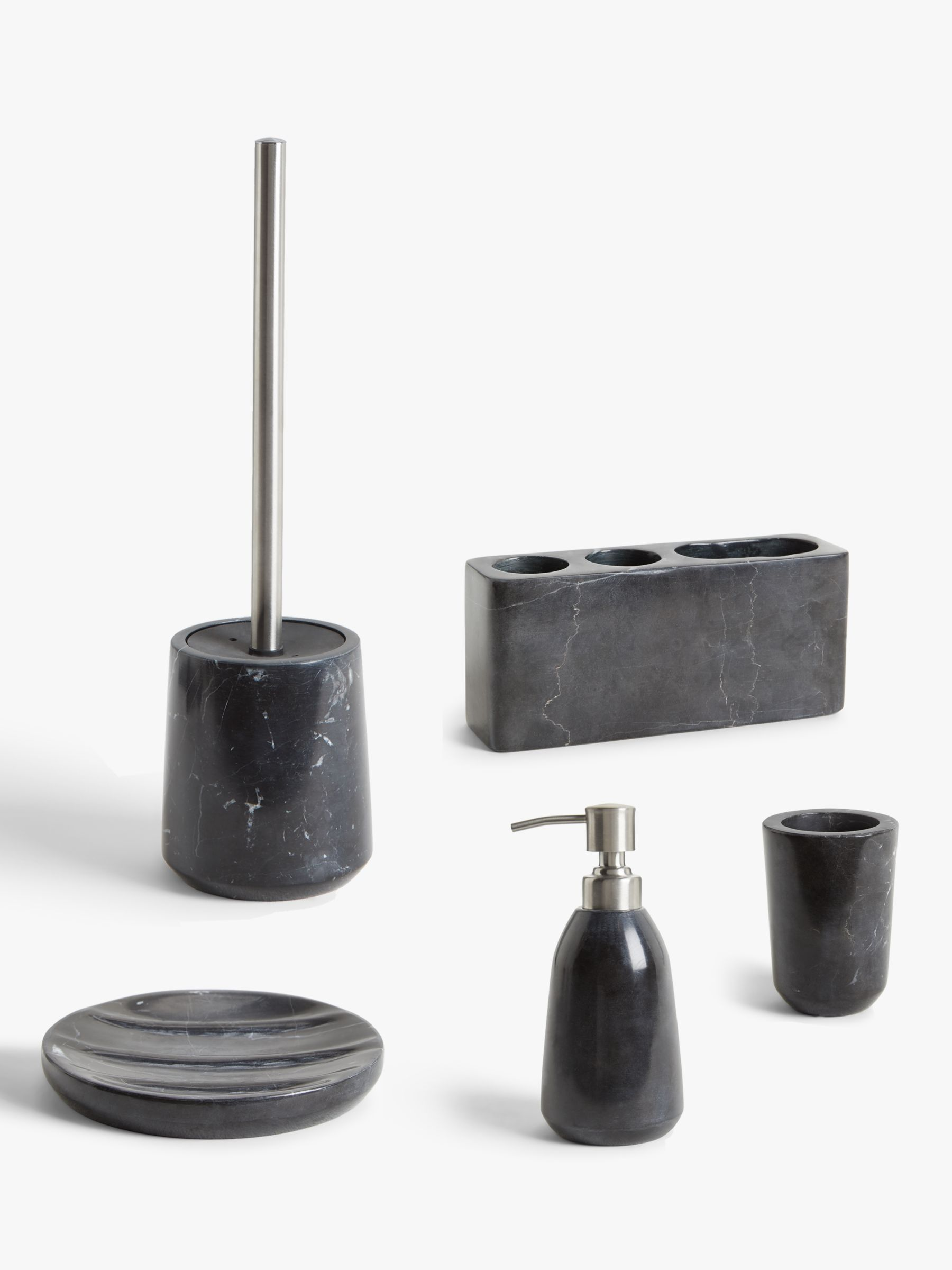 John Lewis Partners Black Marble Bathroom Accessories At John Lewis Partners