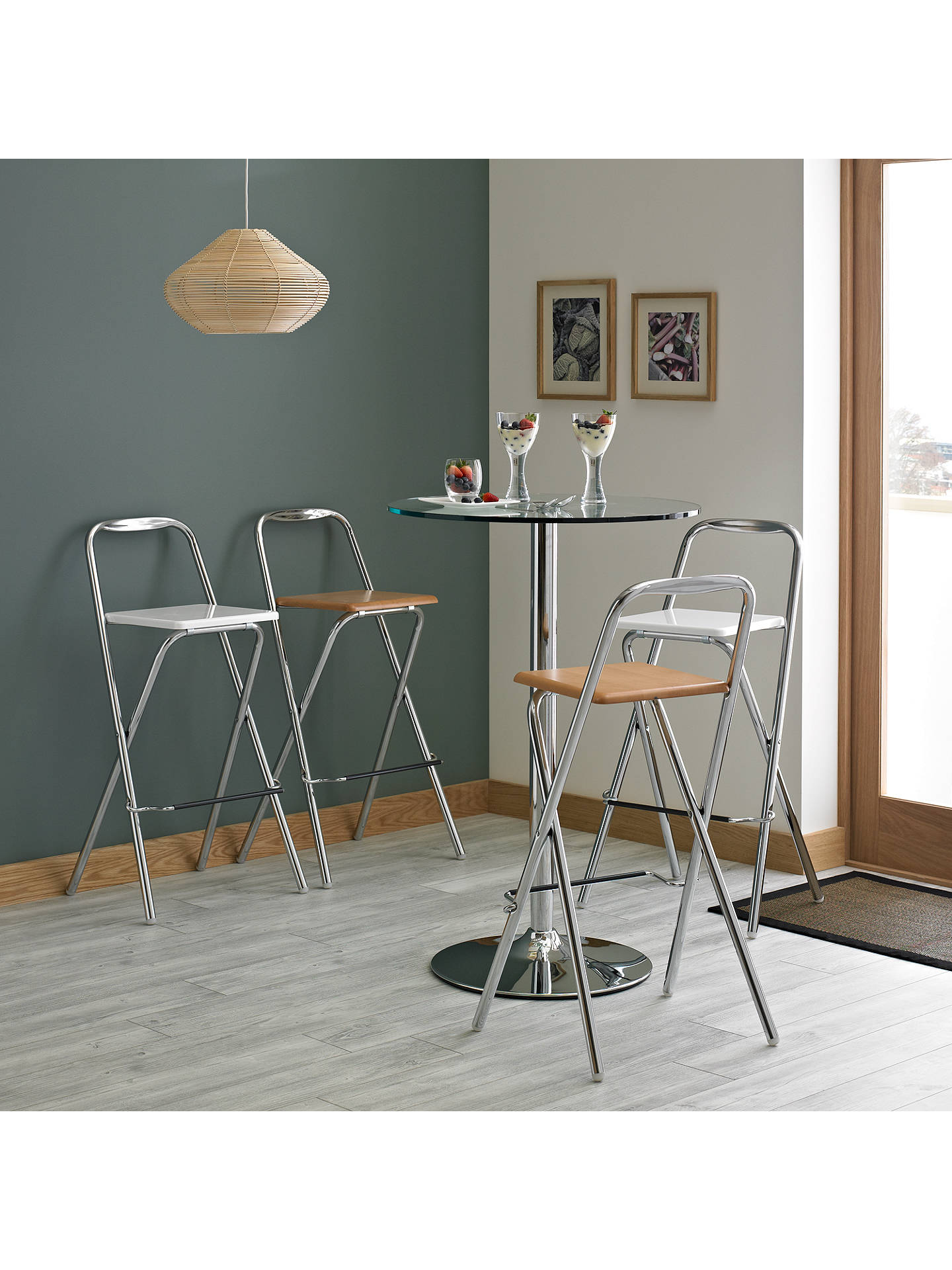 House By John Lewis Verona Folding Bar Chair White Online At Johnlewis
