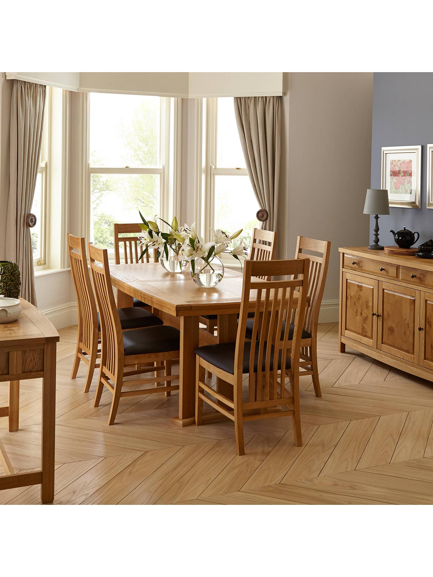 Buyjohn lewis burford extending 6 8 seater dining table online at johnlewis com