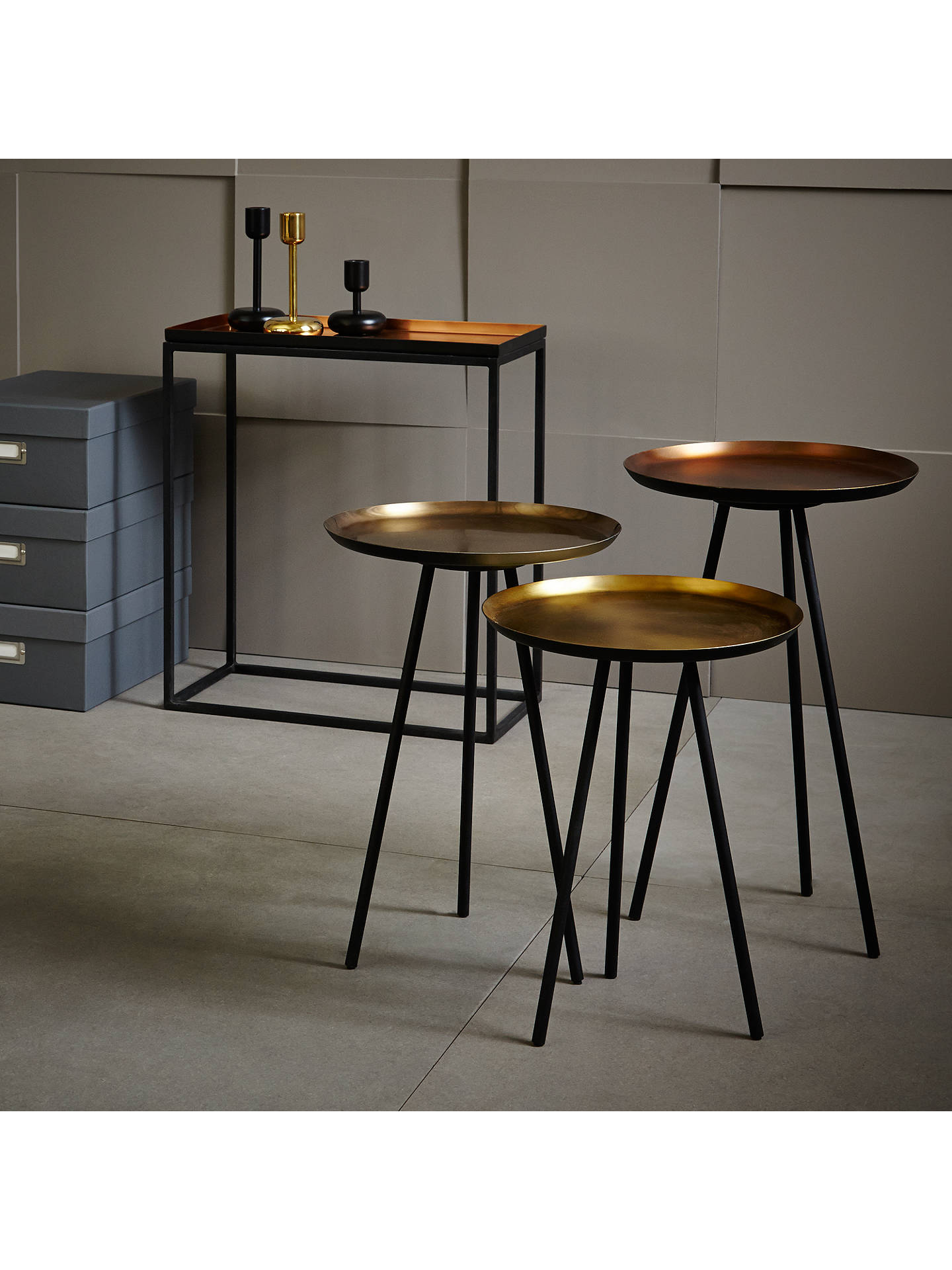 Content By Terence Conran Accents Round Side Tables Set Of 3 Bronze