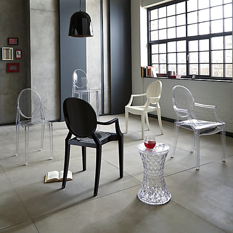 Buy philippe starck for kartell victoria ghost chair for Chaise ghost kartell