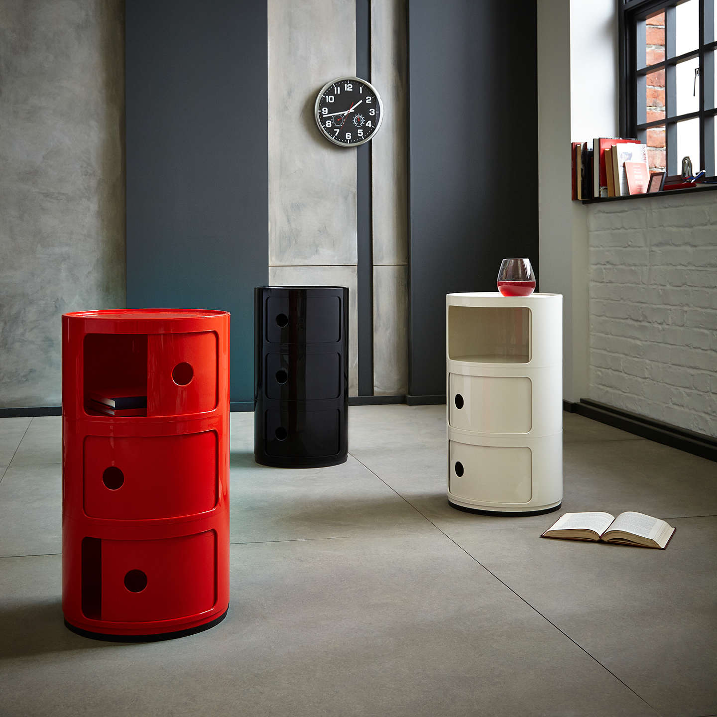 ... BuyKartell Componibili Circular Storage Unit, 3 Tier, Black Online At  Johnlewis.com