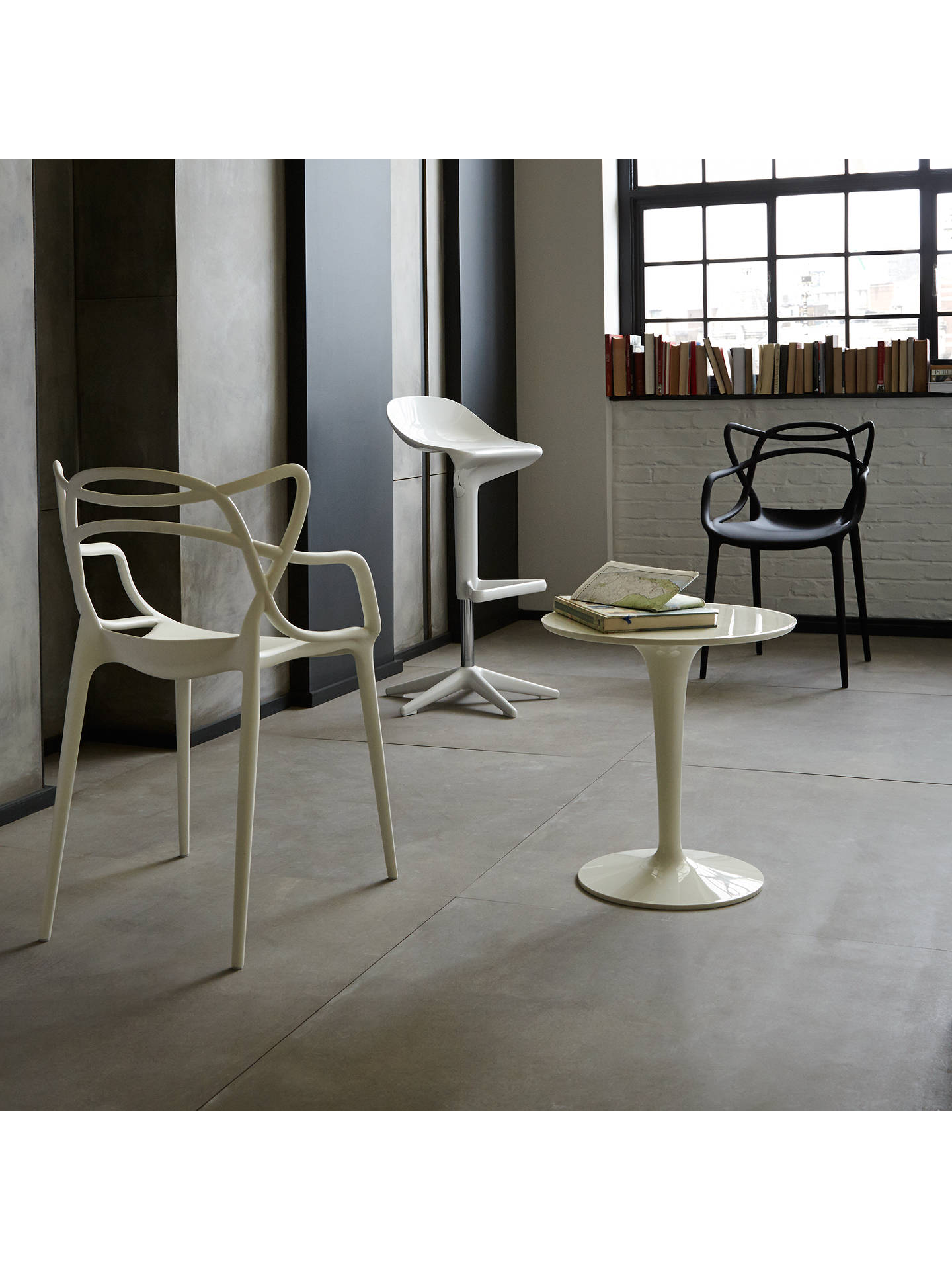 BuyPhilippe Starck for Kartell Tip Top Table, White Gloss Online at johnlewis.com