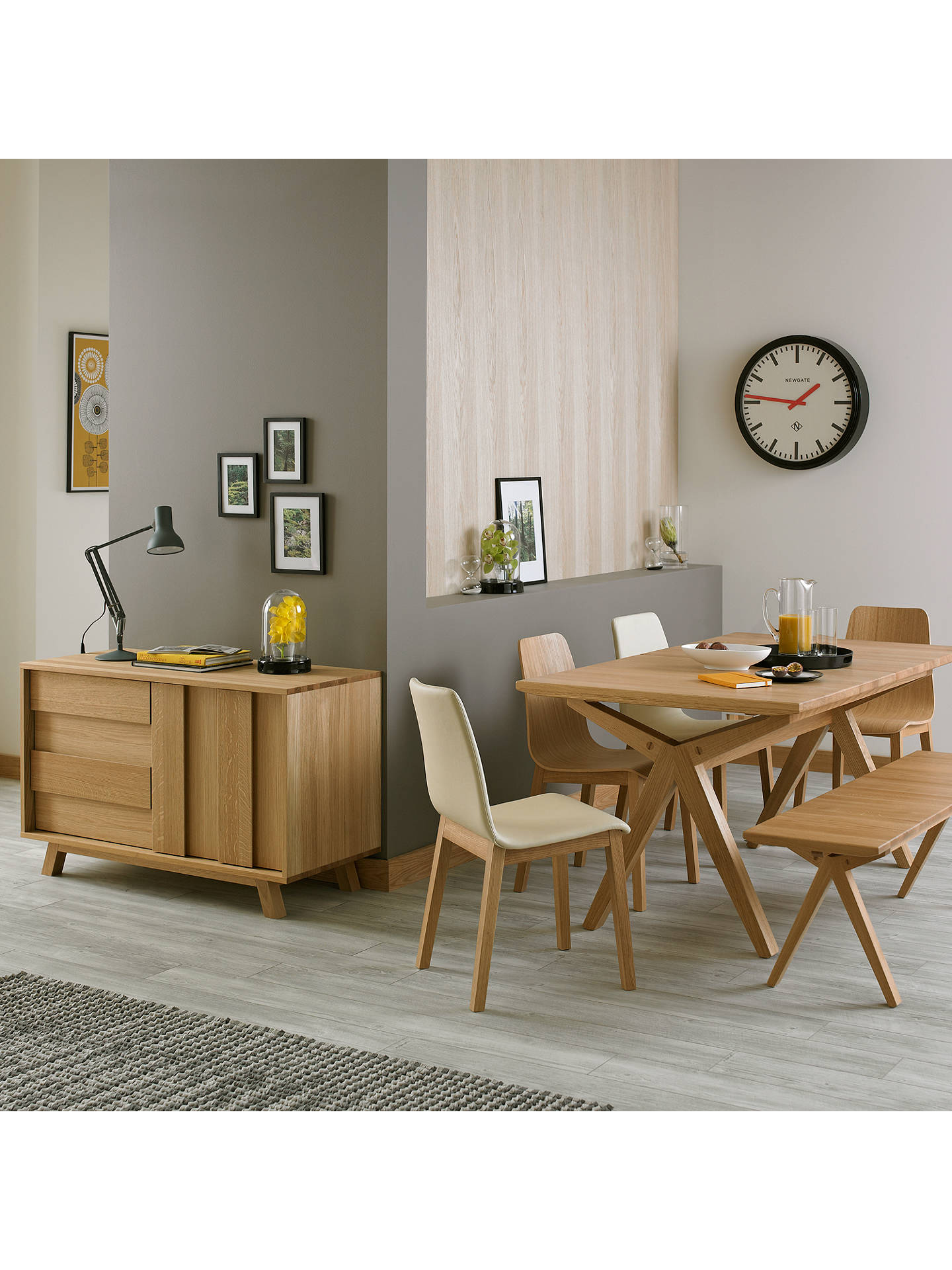 John Lewis Grey Leather Dining Chairs