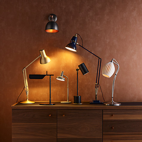 Buy John Lewis Scott LED Touch Lamp, Grey / Brass Online at johnlewis.com