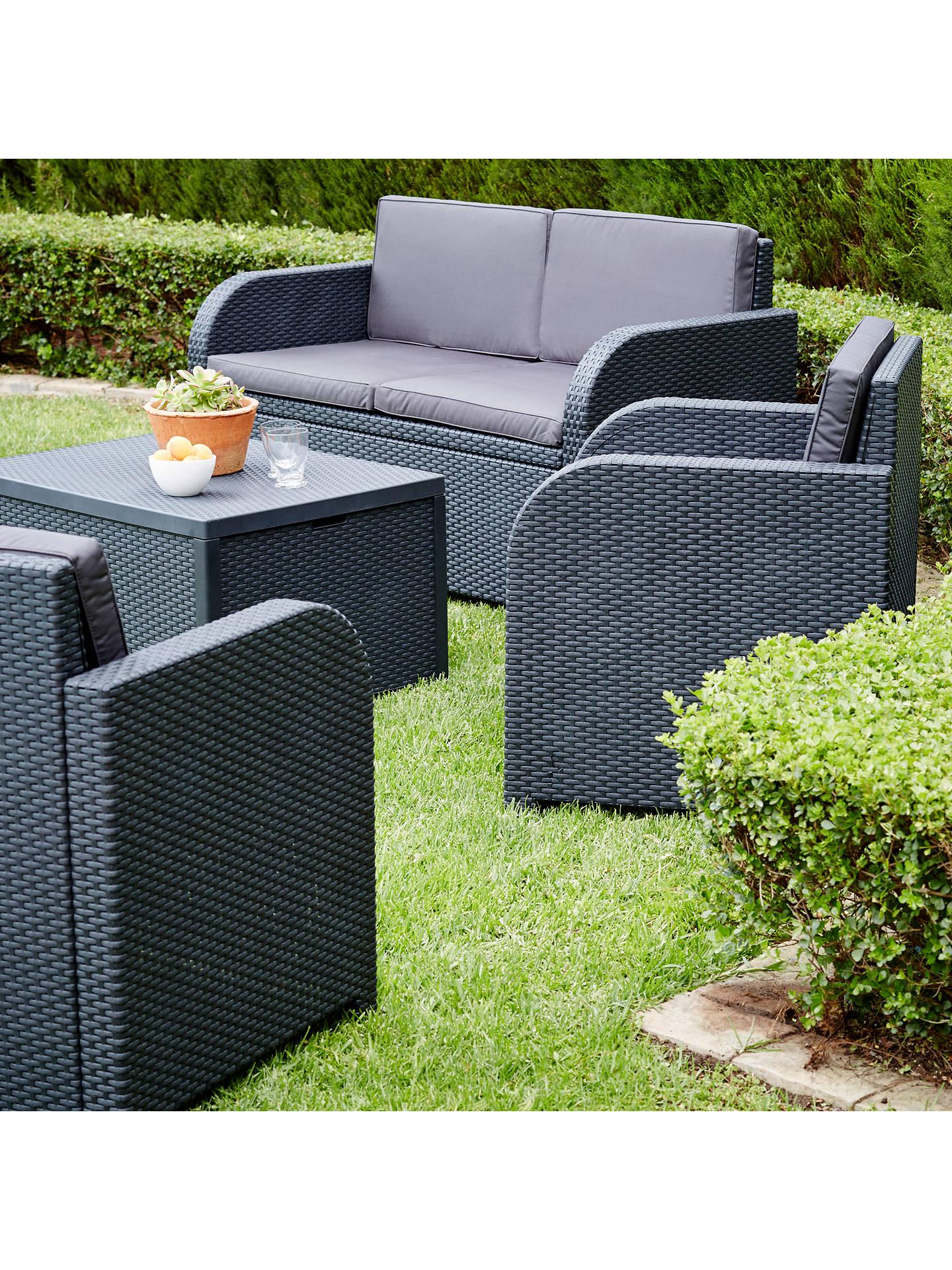 Buy john lewis partners oasis 4 seater garden lounging set graphite online at johnlewis