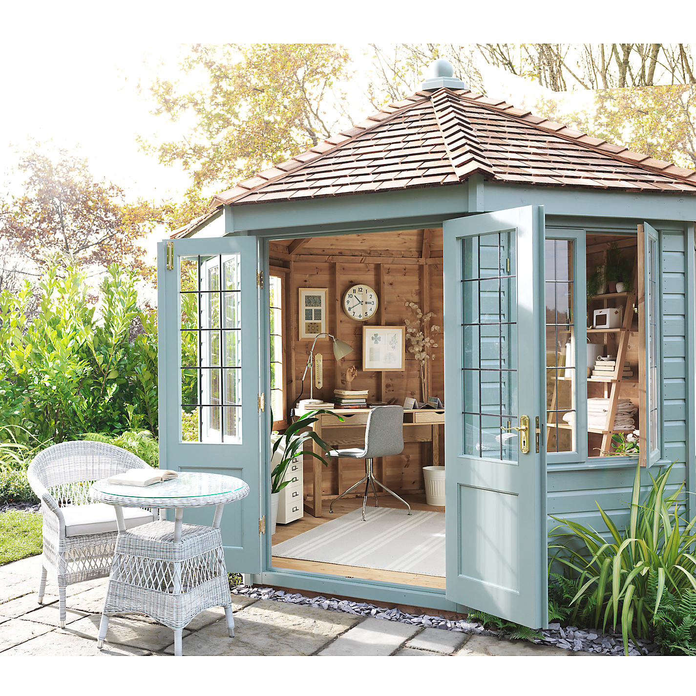 buy crane 3 x 3m round pavilion summerhouse fsc certified scandinavian redwood john lewis - Garden Sheds John Lewis