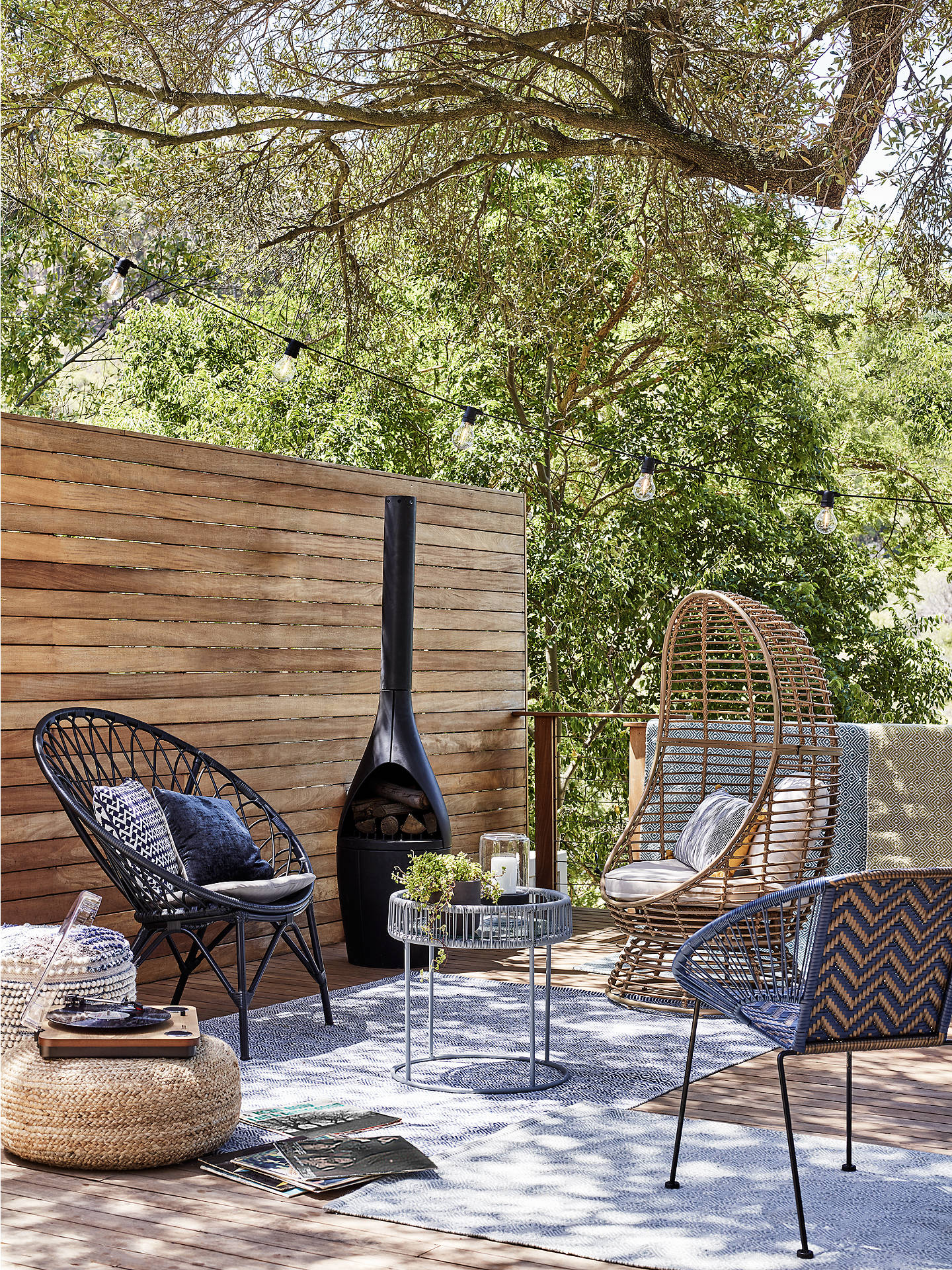 Cabo Patio Furniture.John Lewis Partners Cabo Garden Occasional Chair Black