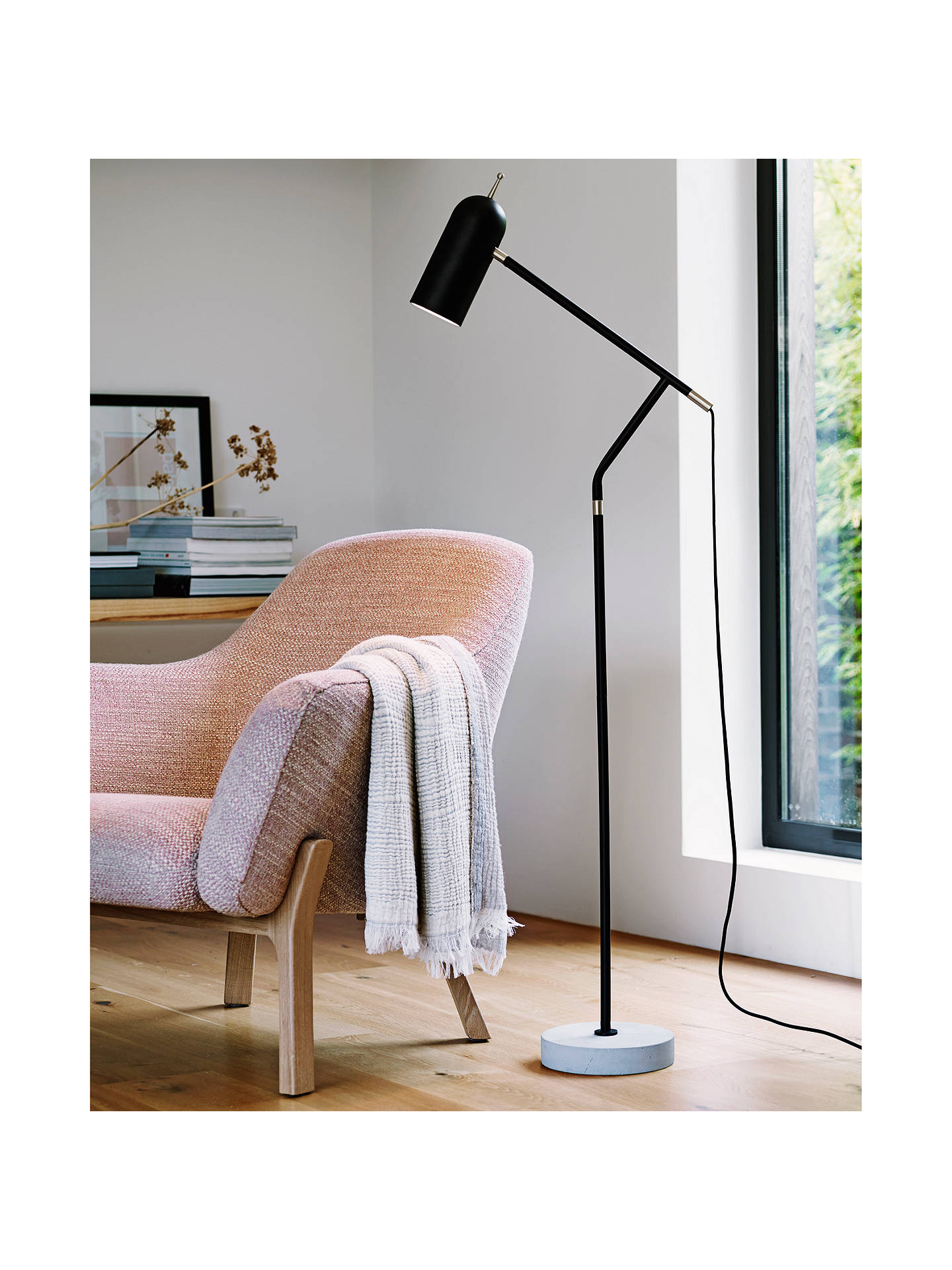 Design Project by John Lewis No.12 LED Floor Lamp, Black