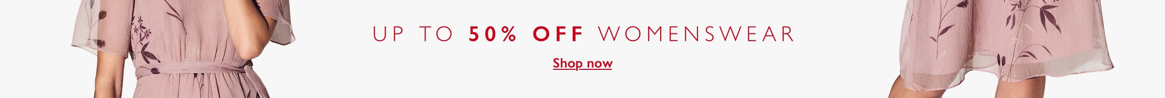 up to 50% OFF womenswear