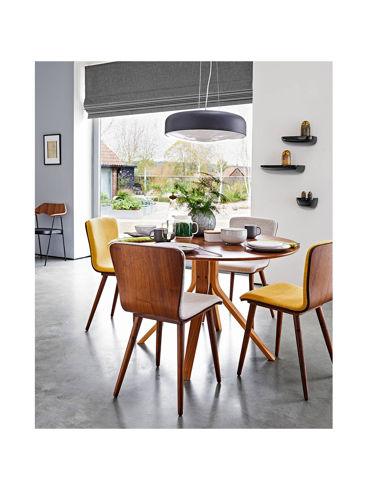 House By John Lewis Radar 6 Seater Round Dining Table Walnut