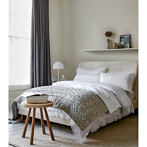Buy John Lewis The Basics Plain Slot Top Voile Panel, White Online at johnlewis.com