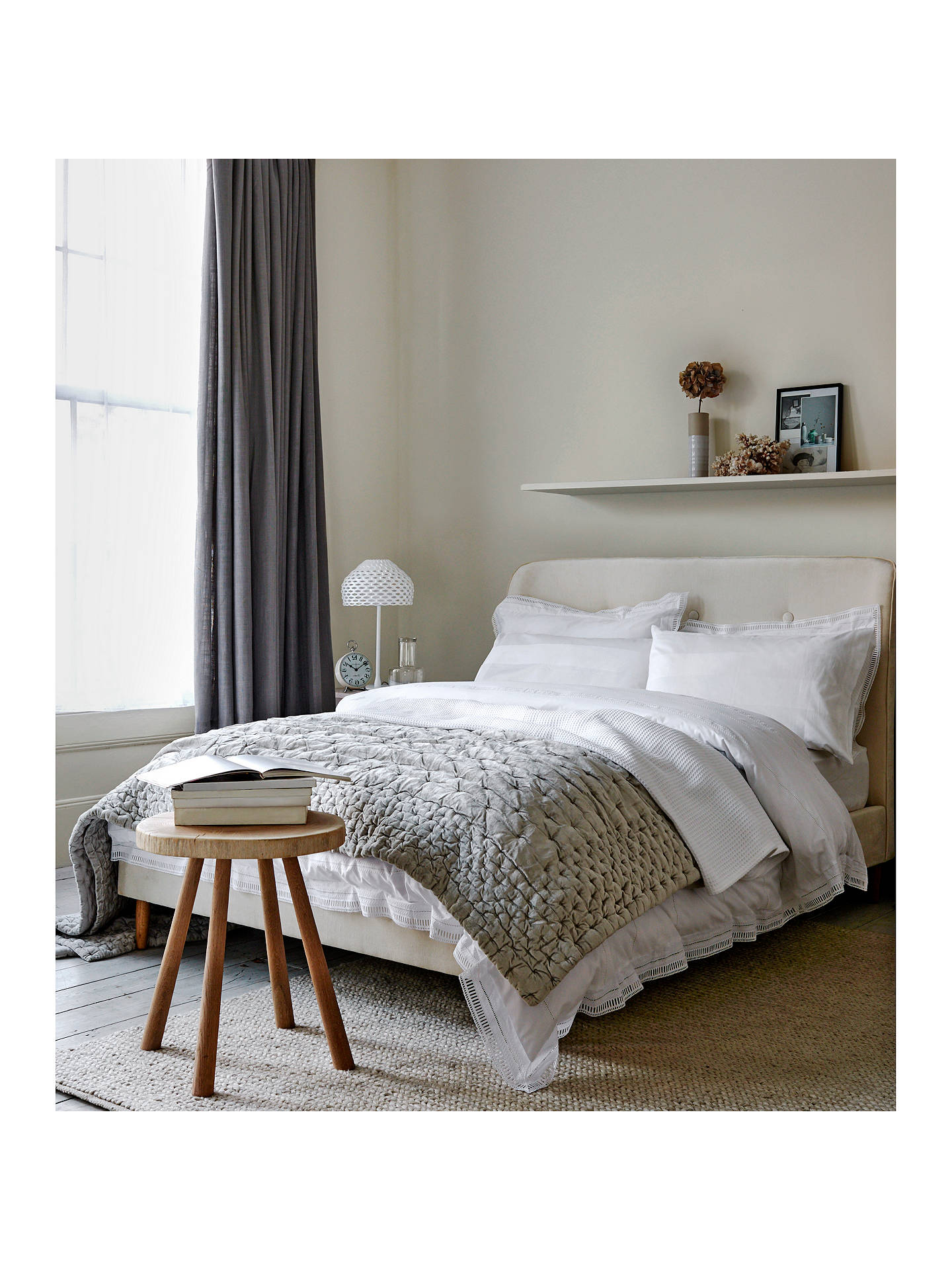 BuyJohn Lewis & Partners Boutique Hotel Velvet Stitch Throw, Steel, L200 x W150cm Online at johnlewis.com
