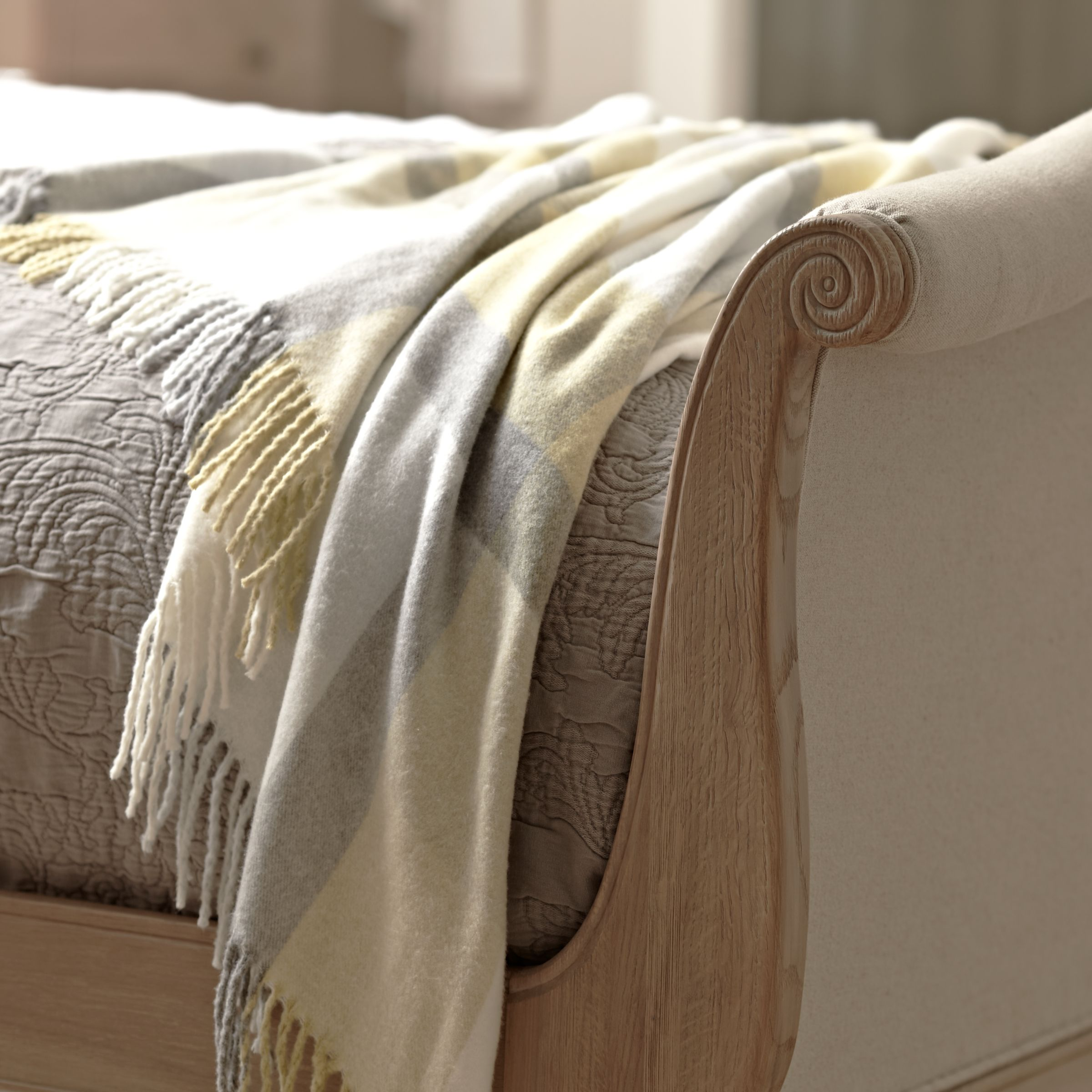 Picture of: John Lewis Partners Etienne Sleigh Bed Frame Super King Size At John Lewis Partners