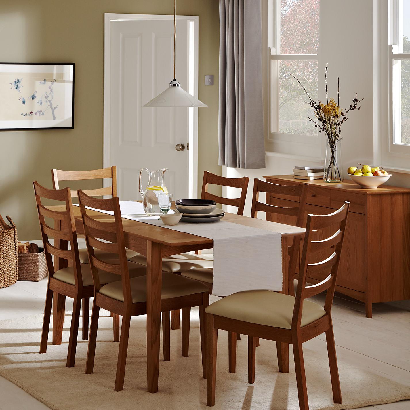 Buy John Lewis Alba 4-6 Seater Extending Dining table | John Lewis