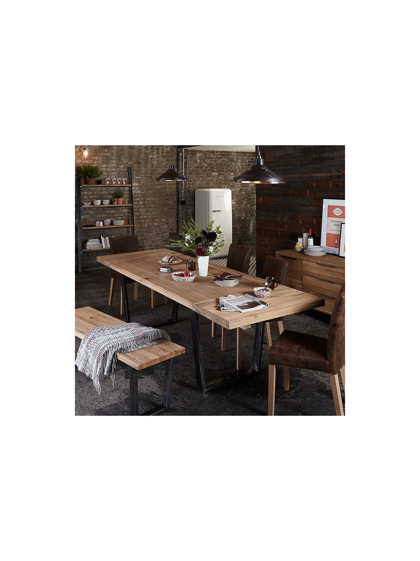 John Lewis Partners Calia 8 Seater Dining Table Oak Online At Johnlewis