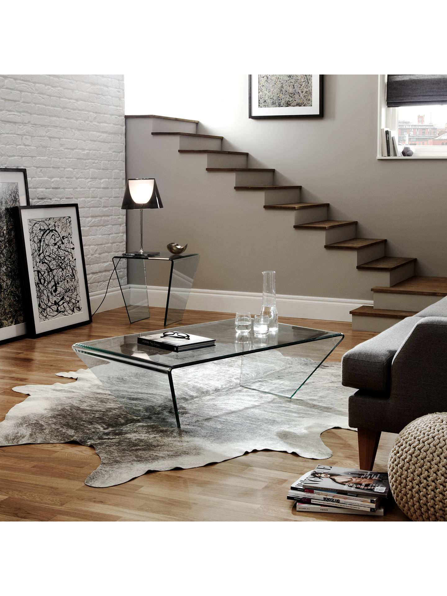 Buy John Lewis & Partners Curvo Glass Coffee Table Online at johnlewis.com