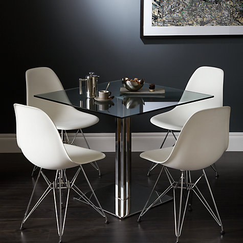 Buy john lewis tropez square 4 seater glass top dining table john lewis - Seater square dining table ...