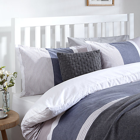 buy john lewis cole wooden headboard, double, white  john lewis, Headboard designs