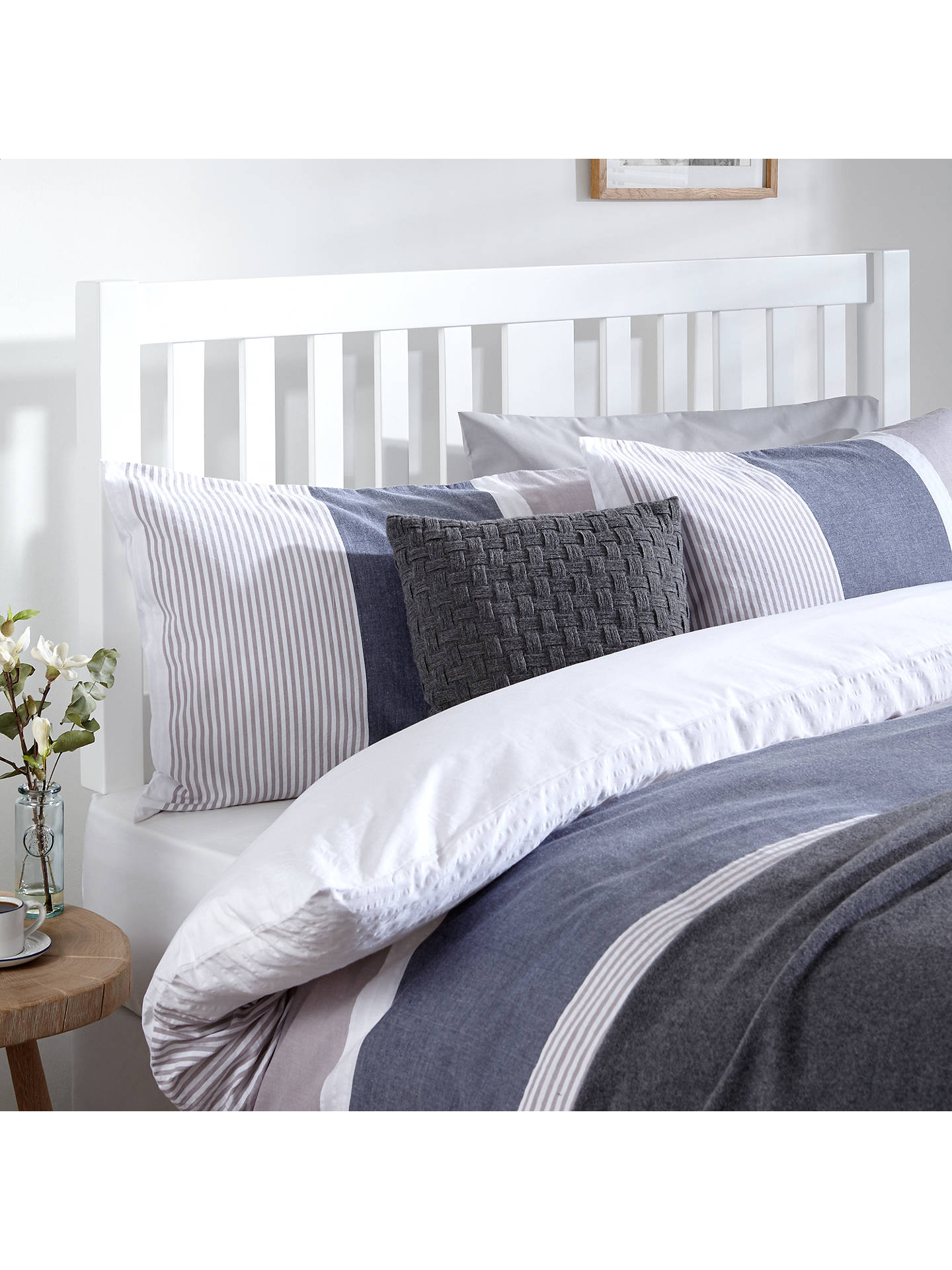 John Lewis Partners Cole Wooden Headboard King Size White