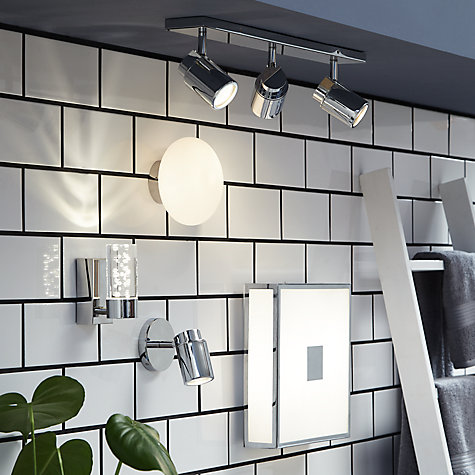 Buy ASTRO Como 3 Bathroom Spotlight Ceiling Bar Online at johnlewis.com