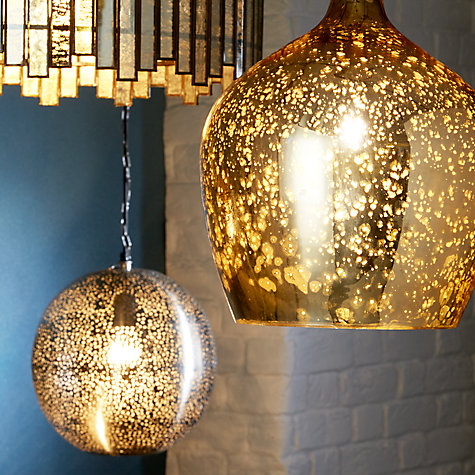 Buy John Lewis Tallulah Copper Pendant Light Mercury