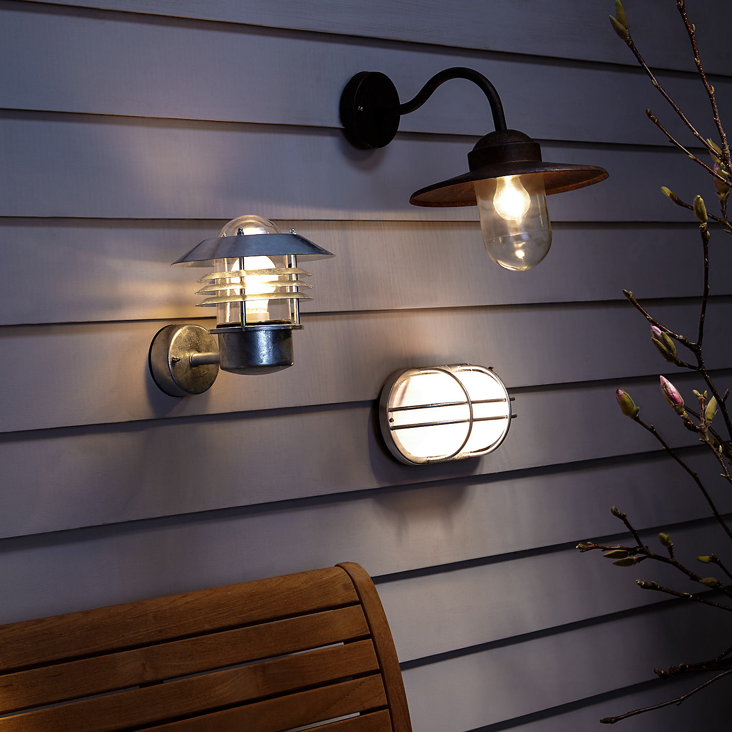 Buy Nordlux Vejers Outdoor Wall Light, Galvanised Steel | John Lewis